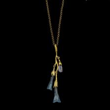 "Virginia Bluebells 24"" Adjustable Branch Pendant Necklace | 9334BZ | Michael Michaud | Nature Jewelry"
