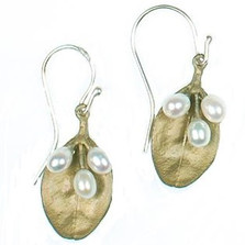 Boxwood 3 Pearl Wire Earrings | Michael Michaud Jewelry | SS4896BZWP -2