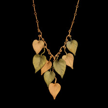 "Sweet Potato Vine 18"" Adjustable Statement Necklace 