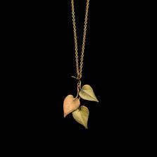 "Sweet Potato Vine 18"" Pendant Statement Necklace | Michael Michaud | 9324BZ | Nature Jewelry"