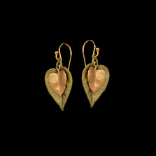 Sweet Potato Vine Wire Earrings | Michael Michaud | 3572BZ | Nature Jewelry