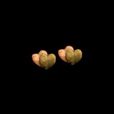 Sweet Potato Vine Post Earrings | Michael Michaud | 3573BZ | Nature Jewelry