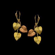Sweet Potato Vine Dangle Earrings | Michael Michaud | 3571BZ | Nature Jewelry