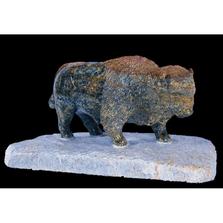 Buffalo Soapstone Sculpture with Base | Douglas Creek | 1700-15