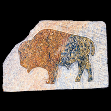 Buffalo Relief Soapstone Sculpture | Douglas Creek | 5100-6