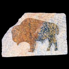 Buffalo Relief Soapstone Sculpture | Douglas Creek | 5100-6