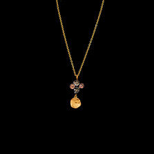 """Midnight Dainty 16"""" Adjustable Gold Pendant Necklace 