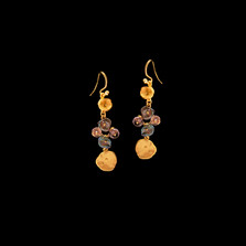 Midnight Gold Wire Earrings   Michael Michaud   3562V   Nature Jewelry