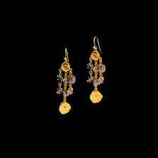 Midnight Gold Chandelier Wire Earrings   Michael Michaud   3561V   Nature Jewelry