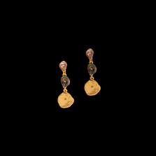Midnight Gold Post Earrings | Michael Michaud | 3560V | Nature Jewelry