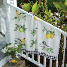 "Bird Poly Throw ""Grove Song"" Blanket 