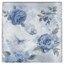 "Butterfly Poly Throw ""Spring Blue"" Blanket 