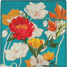 Peony and Poppies Poly Throw Blanket | SAPEPO