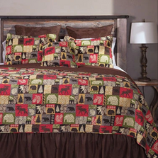 Cabin in the Woods King Quilt Bedding Set | Carstens | JQ324