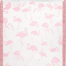 Pink Flamingo Toss Rayon Throw Blanket | ATRPFT
