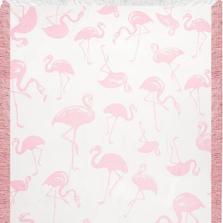 Pink Flamingo Toss Rayon Throw Blanket | ATRPFT