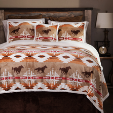Free Rein Horse Print King Bedding Set | Carstens | JP521