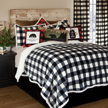 Lumberjack Buffalo Plaid Black White Queen Bedding Set | Carstens | JP801