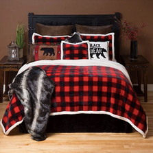 Lumberjack Red Plaid Queen Bedding Set | Carstens | JP571