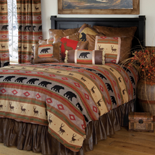 Maple Lake Deer Bear Queen Bedding Set | Carstens | JB6859