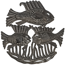Fish Trio Recycled Steel Drum Wall Art | Le Primitif | 2045