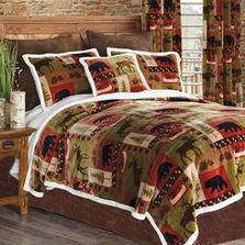 Patchwork Lodge Bear Moose Queen Bedding Set | Carstens | JP588