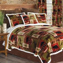 Patchwork Lodge Bear Moose King Bedding Set | Carstens | JP589