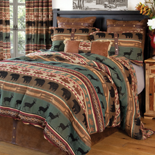 Skagit River Deer Bear Queen Bedding Set | Carstens | JB6864