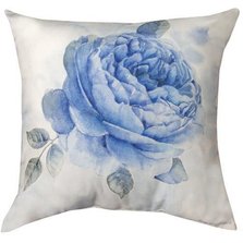 Spring Blue Floral Throw Pillow | SLLSBF