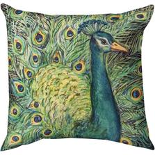 Peacock Throw Pillow | SLLPFL
