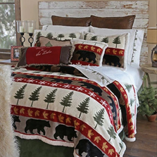 Bear Tall Pine Queen Bedding Set | Carstens | JP515
