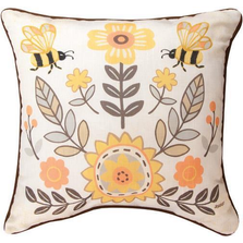 Honey & Hive Reversible Throw Pillow