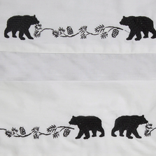 Embroidered Bear Queen Cotton Sheet Set | Carstens | JS200-Q