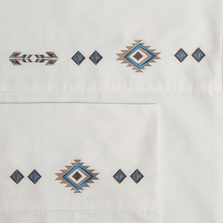 Southwest Embroidered Diamond King Cotton Sheet Set | Carstens | JS205-K
