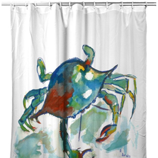 "Crab Shower Curtain ""Betsy's Crab"" 