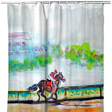"Horse Shower Curtain ""Inside Track"" 