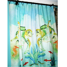 "Sea Turtle Shower Curtain ""Betsy's Sea Turtle"" 