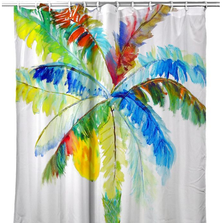 "Palm Tree Shower Curtain ""Big Palm"" 