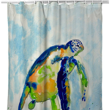 Blue Sea Turtle Shower Curtain | BDSH134