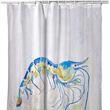 "Shrimp Shower Curtain ""Blue Shrimp"" | BDSH753"