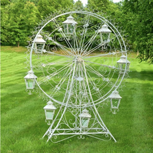 "Iron Ferris Wheel ""Atlantic"" with Hanging Lanterns Garden Statue 