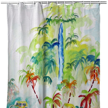 """Palm Tree Shower Curtain """"Colorful Palms"""" 