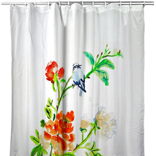 Blue Bird & Flowers Shower Curtain | BDSH1103