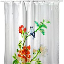 Blue Bird & Flowers Shower Curtain | BDSH1103