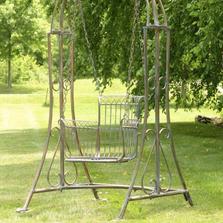 Oasis Iron Garden Swing Chair   Zaer International   ZR160144-BB