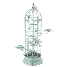 Iron Bird Cage Candle Holder | Zaer International | ZR167082-GR