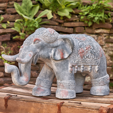 Boho Elephant Garden Statue | Zaer International | ZR180388
