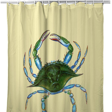 Female Blue Crab Shower Curtain | BDSH004Y