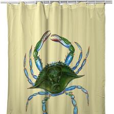 Female Blue Crab Shower Curtain | BDSH004Y