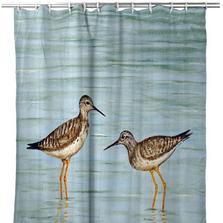 "Shorebirds Shower Curtain ""Yellow Legs"" | BDSH430"